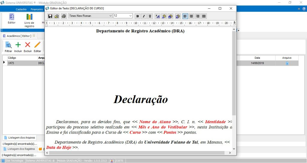 Universitas - Editor